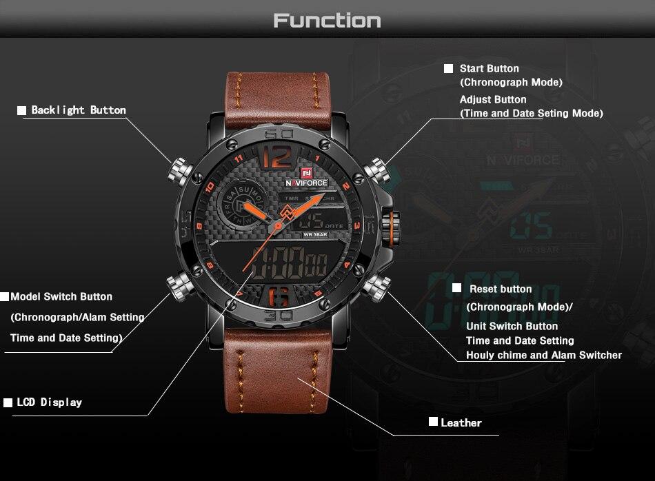 NAVIFORCE Homens Relógios Top Marca de Luxo