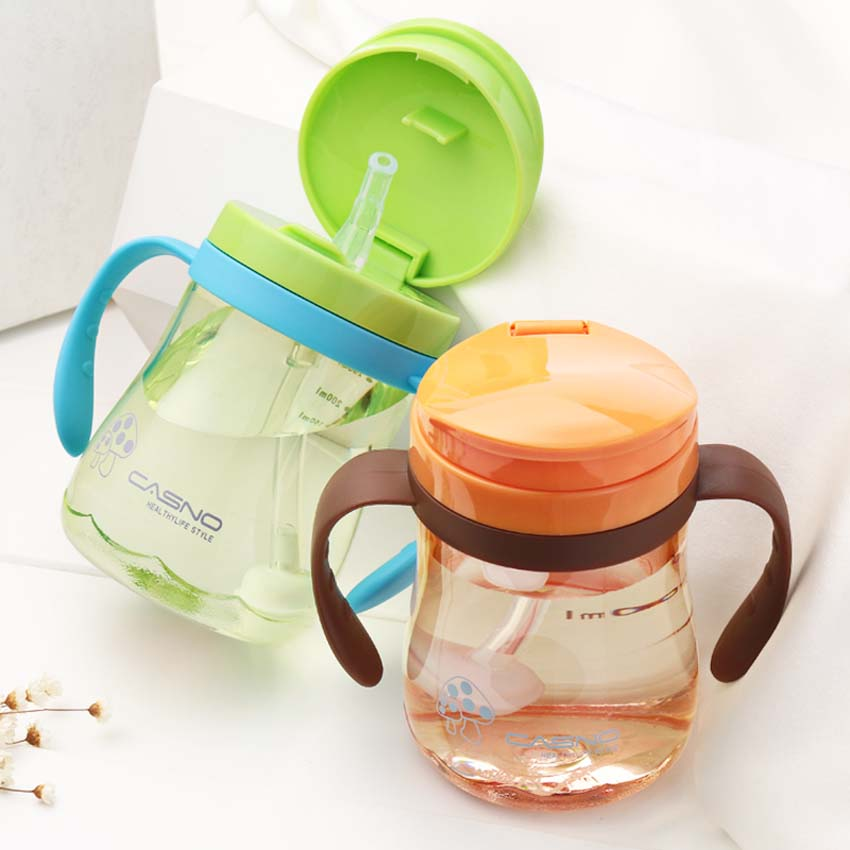 Baby Kids Cup Toddler Infant Newborn Baby Kids mug Cup Handle Children Learn Drinking Straw Bottle Sippy Cup 330ml 240ml baby trainer feeding bottle straw cup baby kids children drinking bottle sippy cups with handles