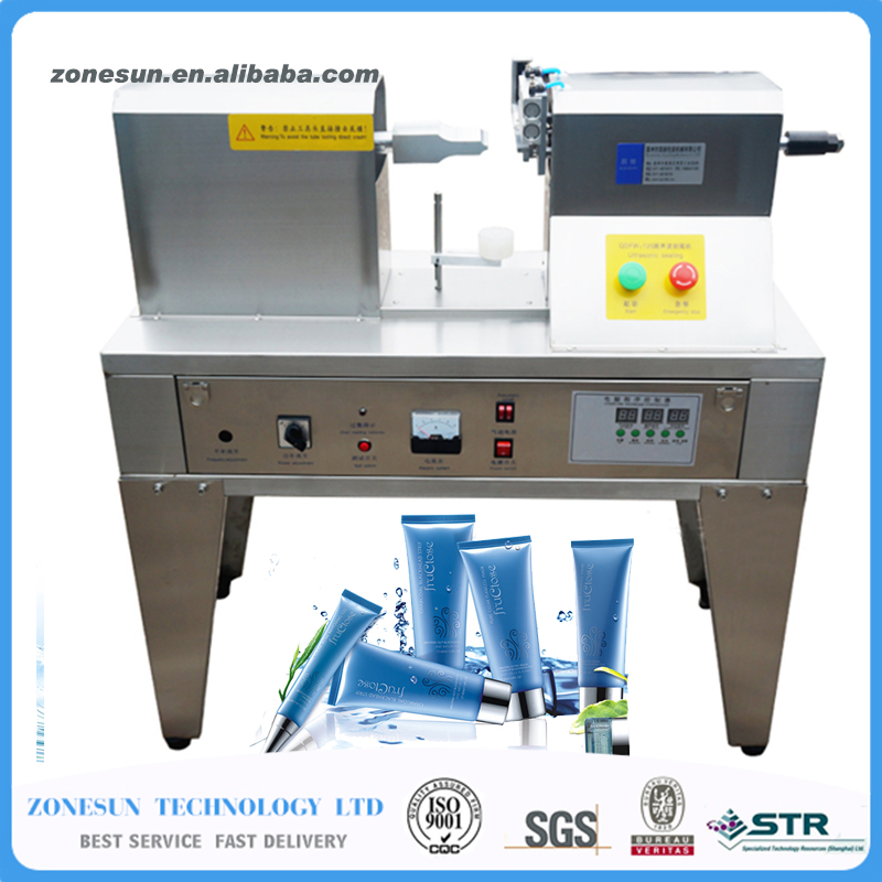 QDFM-125 Ultrasonic soft tube sealer machine,plastic/aluminium tubes sealing +edge cutting+date printing expire date printing machine date code printer machine for printing expiration date