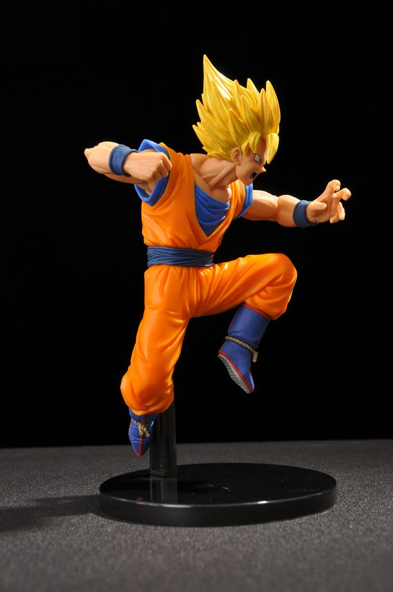 Toys & Hobbies Dragon Ball Super Sc 6 Action Figure Super Saiyan 2 Son Goku Jumping Model Toy Figuras Dbz 17cm/6.5 Inch Ver.4