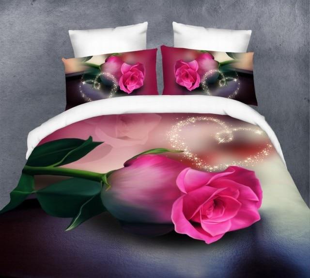 Rosen Kaufhaus 3d Rosa Rose Bettwäsche Set Quilt Bettbezug Bett In