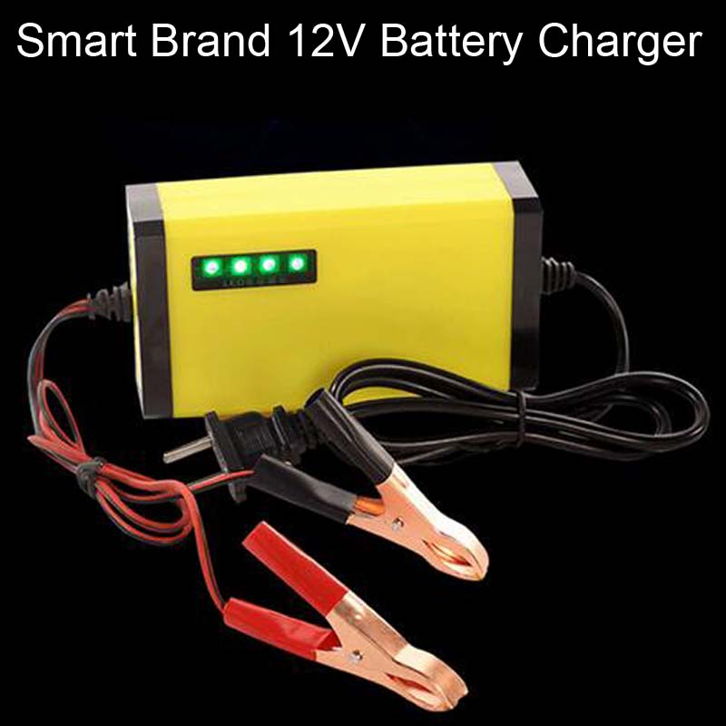 Auto Car Motorcycle DC 12V MAX 3A Smart Fast Universal Rechargeable Battery Charger Tender Maintainer With