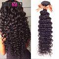 Grueso 7A Peruano de la Onda Profunda Peruana Virgin Hair Weave 4 Bundles Peruana Rizada Del Pelo Suave Pelo Peruano Extensiones de Cabello Humano