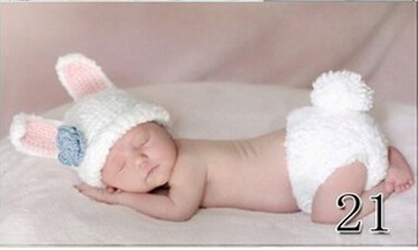 Newborn Baby Infant Crochet Knit Beanie Animal Design Photography Props Hat