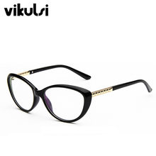 5fc783957 Ojo de Gato gafas claro marcos falso gafas de diseñador de la marca  transparente gafas mujer Nerd miopía Hipster gafas Mujer