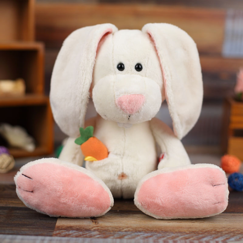 NICI plush toy stuffed doll cute cartoon animal rabbit Buckteeth bunny Carrot bedtime story baby kid birthday christmas gift 1pc 28inch giant bunny plush toy stuffed animal big rabbit doll gift for girls kids soft toy cute doll 70cm