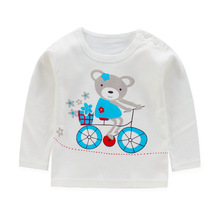 new  arrived baby girl and boy clothes  long sleeve kidsT-shirt quality 100% cotton children cartoon clothes tops tshirt children clothes long sleeve strawberry patten 100