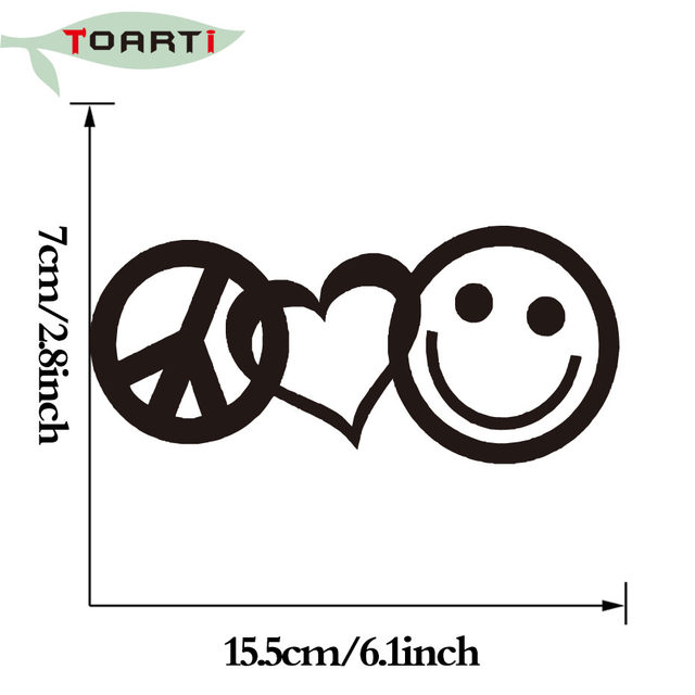 Online Shop Peace Love Happiness Vinyl Decal Sticker For Car Styling