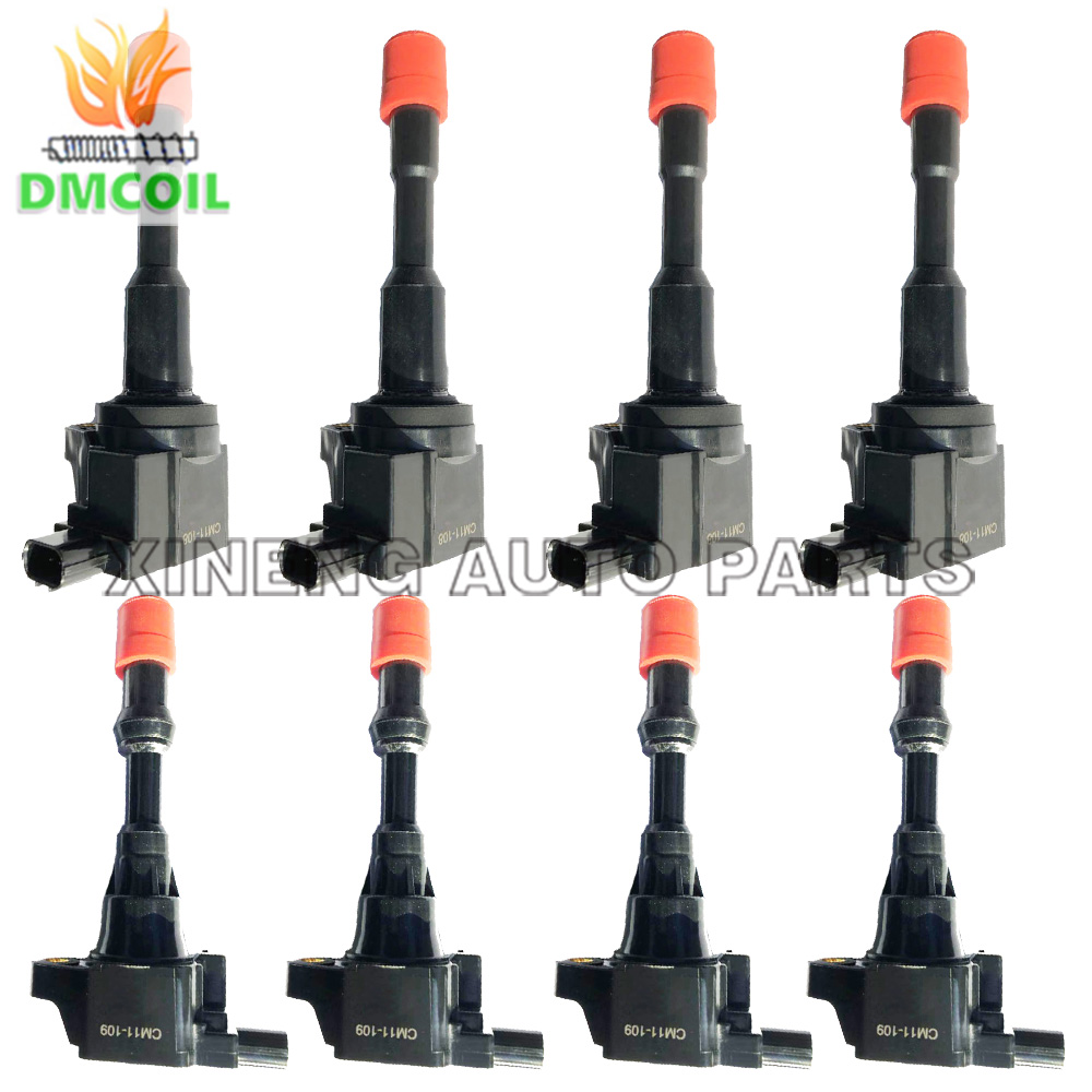 8 PCS IGNITION COIL WITHOUT RESISTANCE FOR HONDA CIVIC VII VIII FIT ARIA FIT II JAZZ