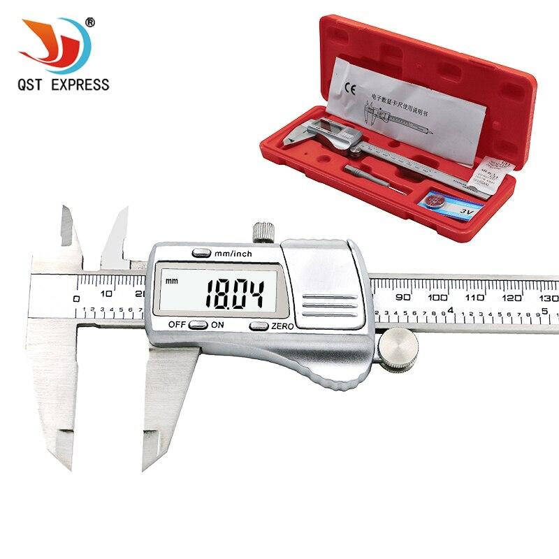 Calibrador digital 0 0,01mm/150 calibradores electrónicos de acero inoxidable vernier métrica/pulgadas micrómetro herramientas de medición