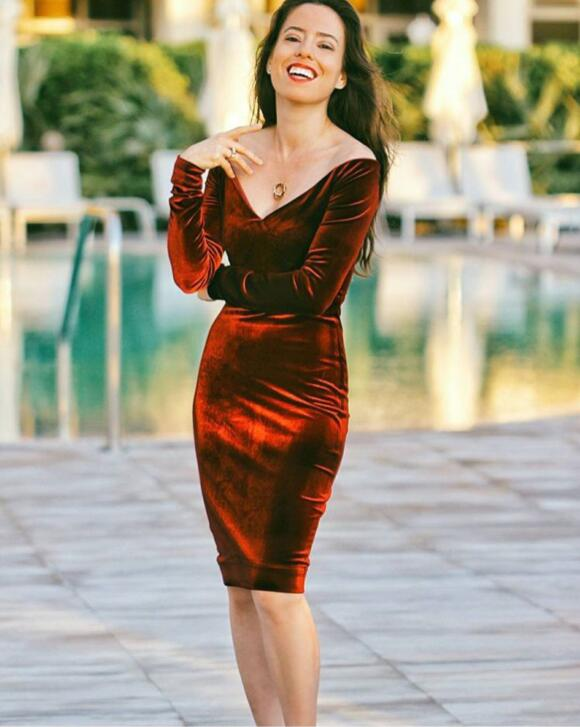 Wine Red Color Ladies Long Sleeve Sexy Off the Shoulder Bodycon Mini Dress Club Night Dress Top Quality