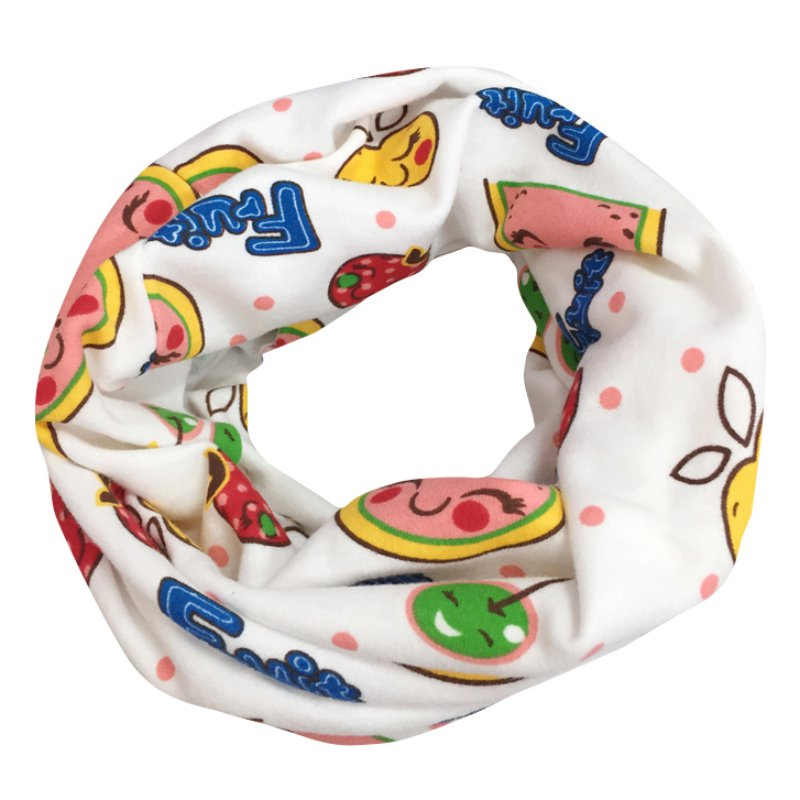 Childrens Scarf Hot Fashion Autumn And Winter Collar Cartoon Cotton Scarf Baby Thickened O Ring magic neckerchief