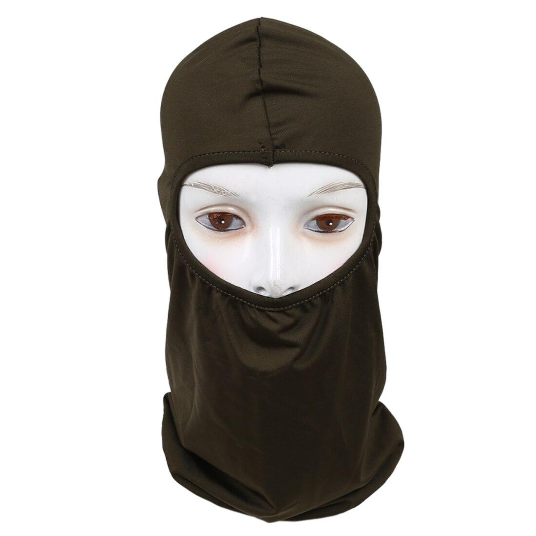 Ultra Thin Ski Bike Bicycle Face Mask Sports Football Helmet Army Green
