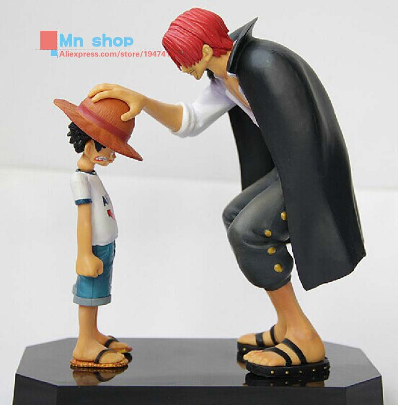 Japanese Anime Cartoon Doll One Piece Redhead Luffy Classic Scene PVC Figure Doll Toys P45 anime one piece luffy save ace model garage kit pvc action figure classic collection tou doll
