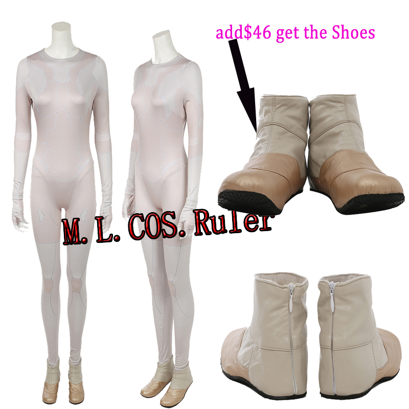 Custom Made Ghost in the Shell Kusanagi Motoko Cosplay Costume OnlyJumpeuit+Gloves All Size Halloween Unisex Free Shipping
