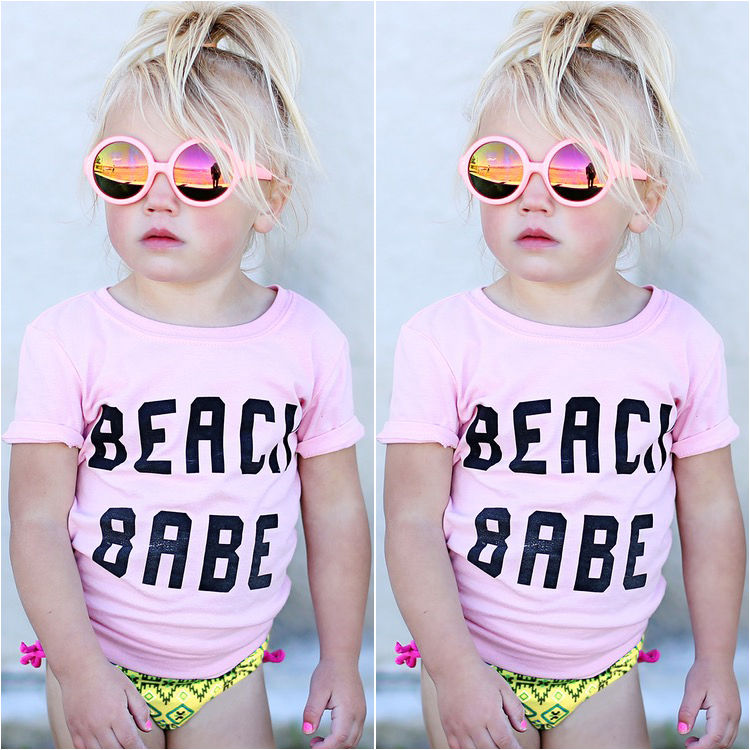 Summer Newborn Baby Girls Toddler Short Sleeve T-shirt Top Tee Outfits Clothes Child Girl T Shirt Clothing