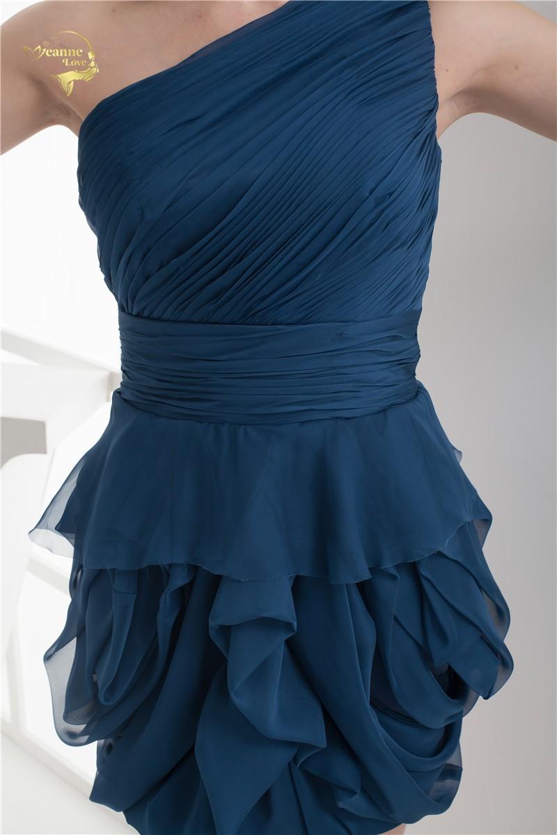 2018 NEW ARRIVAL Cheap Price Vestidos De Formatura Mini Chiffon Fold One Shoulder Flower Short Cocktail Dresses 2018 HCK1235 9
