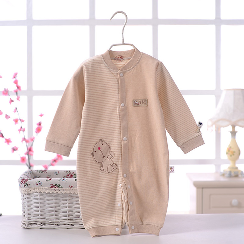 Newborn baby clothing Rompers Long Sleeve Soft Cotton Fashion Infant Clothes Autumn Bear printe Roupas baby clothes 50-2 cotton baby rompers set newborn clothes baby clothing boys girls cartoon jumpsuits long sleeve overalls coveralls autumn winter