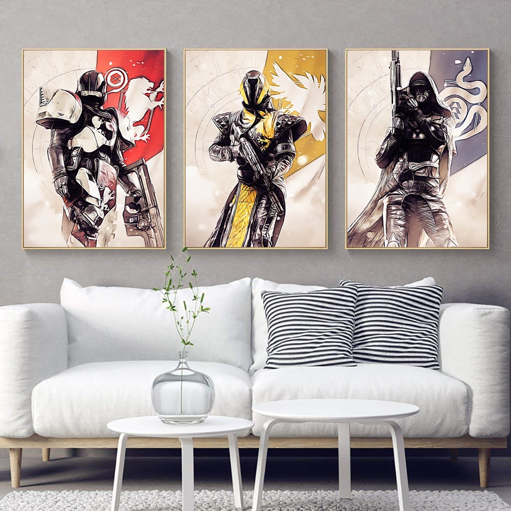 Living Room Art Printables: Destiny 2 Game Canvas Poster Wall Art Print Decoration