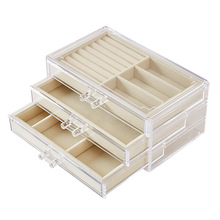 High Quality Acrylic Transparent Jewelry Box (3 colors)