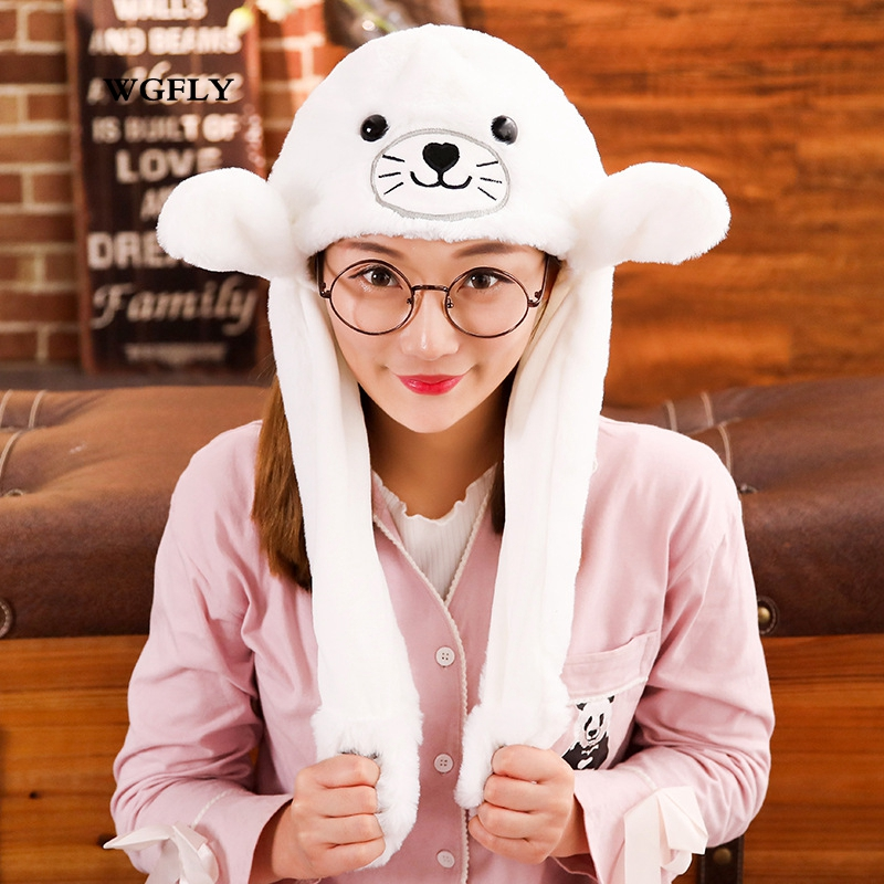Gentle Novelty Magic Rabbit Hat With Moving Ear Plush Toy Gift Kids Toy Party Photo Cartoon Hats Toys & Hobbies