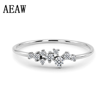 Solid 10K white gold and yellow gold Moissanite Wedding Band image
