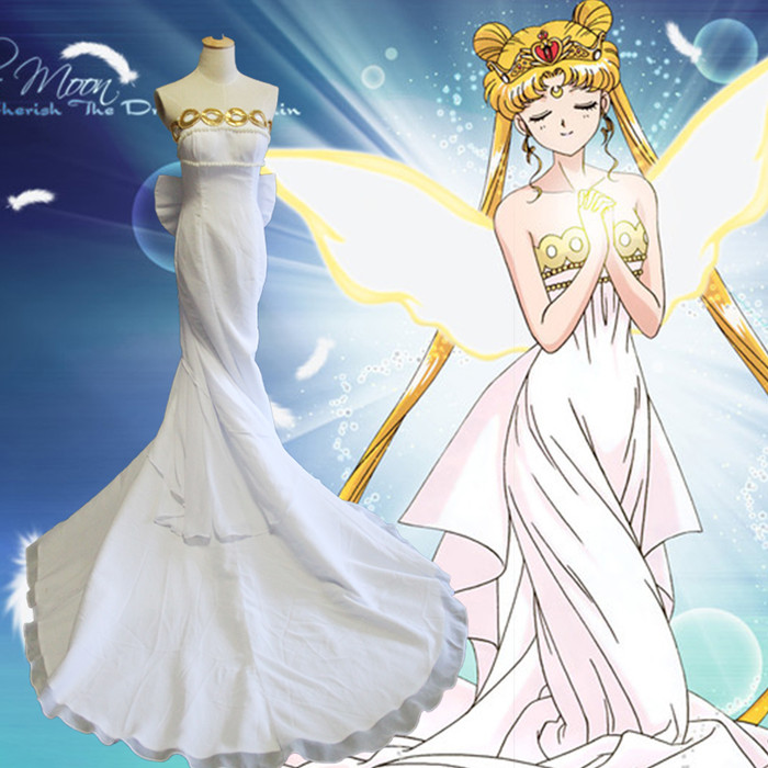 Sailor Moon Princess Serenity Tsukino Usagi Dress Cosplay