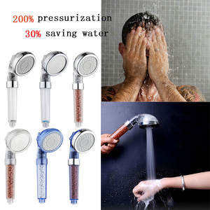 High Pressure Shower Head Bathroom Water Saving 3 Filter Ionic Filtration Heads Water-Saving For Low Water Pressure