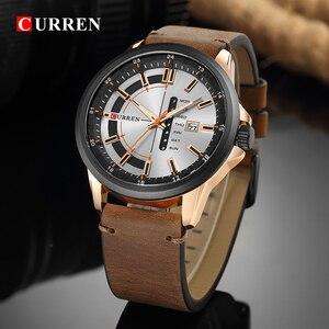 Image 3 - CURREN Montre de luxe pour hommes, Montre bracelet de sport militaire, analogique, à Quartz, affichage calendrier, décontracté