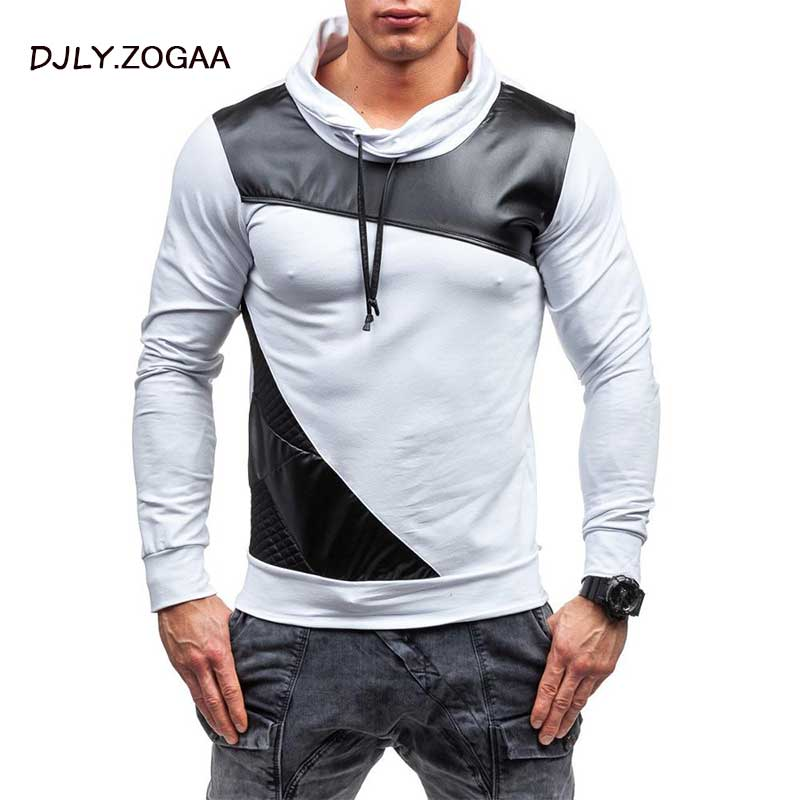 ZOGAA 2019 Geek New Men 39 s Polo Shirt Grid Color Matching Long Sleeve Slim Top in Polo from Men 39 s Clothing