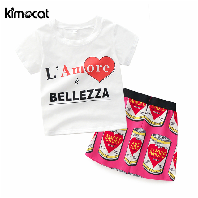 c23019e93 Kimocat Baby Girl Clothes Cotton High Quality Short Sleeved ...