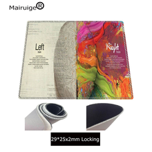 Mairuige 250X290X3MM Left Brain Right BrainLarge Natural Rubber Mouse Pad Waterproof Game Desk Mousepad Mat