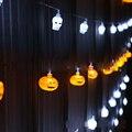 Tanbaby Batería Operado Luz de la Secuencia de Halloween Fantasma, calabaza, cráneo 10 LED 2 M batería picadura luces de navidad decoración de interior