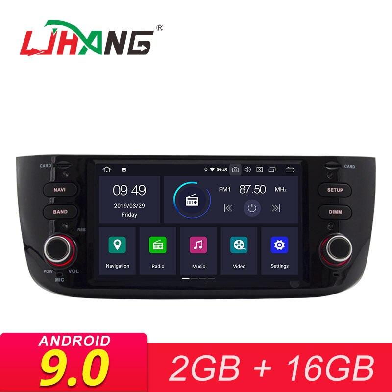 LJHANG Android 9.0 autoradio stéréo pour Fiat Linea Grande Punto 2012 2013 2014 2015 GPS WIFI lecteur multimédia AUX RDS Headunit