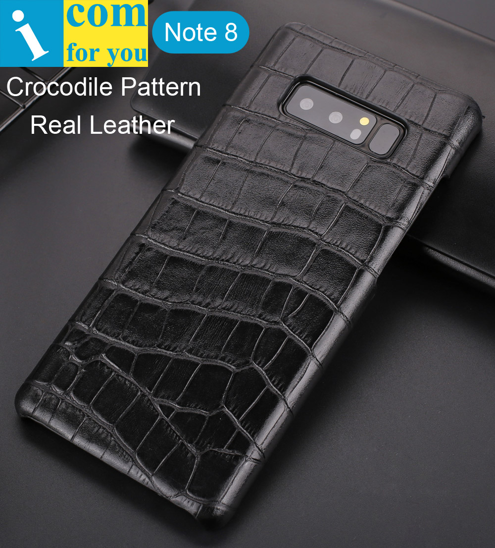 Crocodile Alligator Pattern Back Cover Case For Samsung Galaxy Note 8 Retro Business Luxury Real Genuine