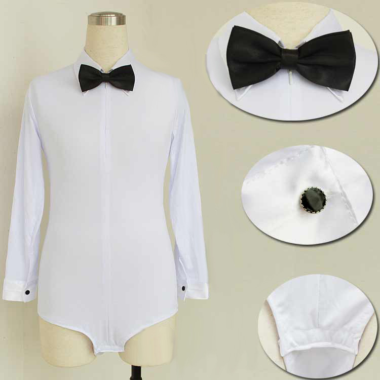 2020  Long Sleeves Child Latin Shirt  Boys Dance Tops Boys White Ballroom Dance Clothing Salsa/Cha Cha/Rumba Dancing Clothes