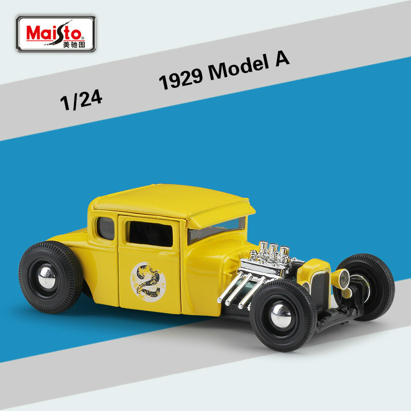 Maisto 1:24 for Ford Classic Car Model 1929 for Ford Model A Modified Version Diecast Simulation Alloy Model Car Auto Kids ToysMaisto 1:24 for Ford Classic Car Model 1929 for Ford Model A Modified Version Diecast Simulation Alloy Model Car Auto Kids Toys