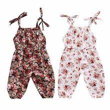 Лето, Одежда для новорожденных девочек, комбинезон с цветочным принтом, комбинезон с поясом, пляжный костюм, одежда, От 0 до 3 лет