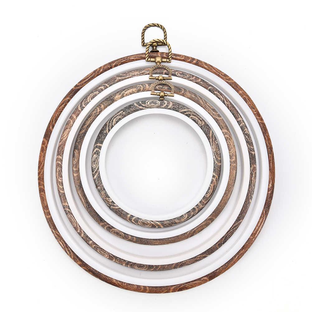12-34cm עגול/סגלגל עץ פלסטיק מסגרת רקמת חישוק טבעת מעגל לולאה עבור צלב תפר יד DIY המחט תפירה כלים