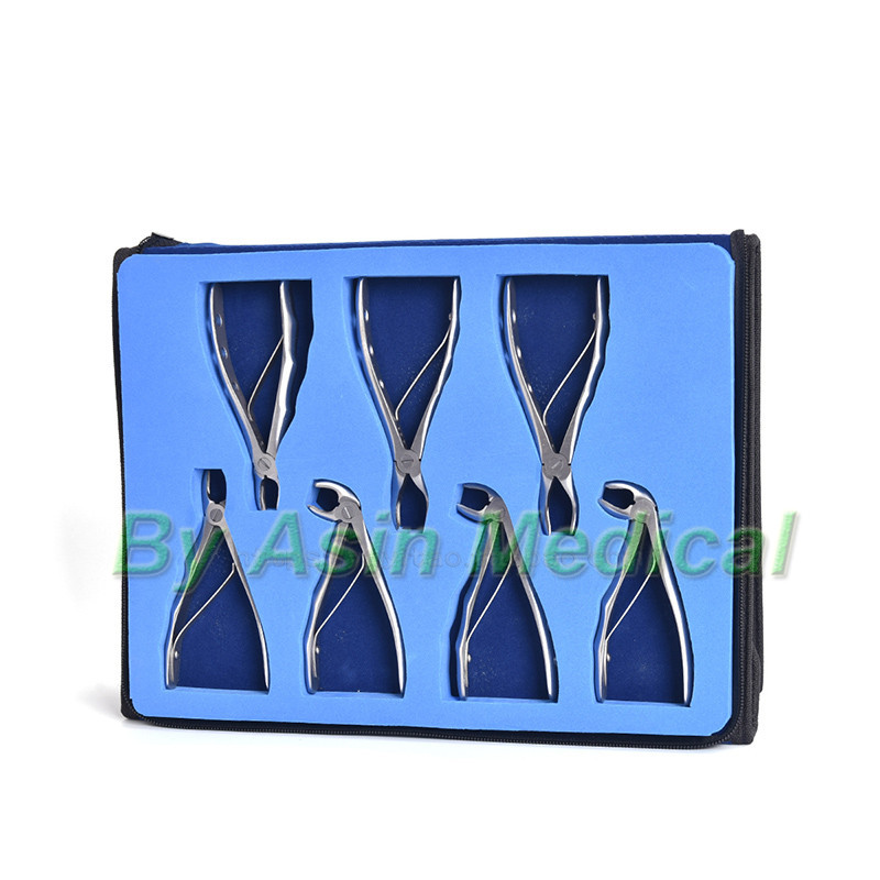 2018 new arrival Children's tooth forceps set Stainless Steel Extraction Pliers Set dental tools dentist tools 7pcs stainless steel dental forceps children s tooth extraction forcep pliers kit orthodontic dental lab instruments tools