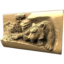 Tiger 3d model STL relief for cnc STL format 3d Relief Model STL Router 3 axis Engraver ArtCam цена