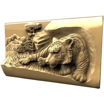 Tiger 3d model STL relief for cnc STL format 3d Relief Model STL Router 3 axis Engraver ArtCam