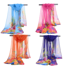 Hot Sell Summer Scarf Women Shawl Chiffon Breathable Beach Fashion Wrap Candy Colors Scarves for Lady