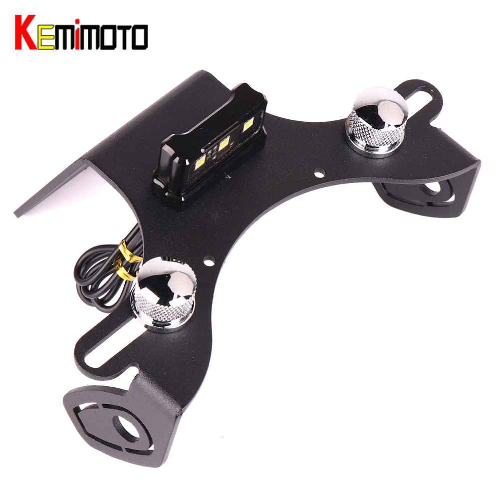 KEMiMOTO For kawasaki Z800 Fender Eliminator Z 800 Motorcycle License Plate Holder License Bracket Tail Tidy LED light 2013-2017