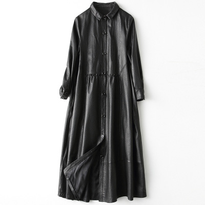 2019 New Fashion Genuine Sheep Leather   Trench   H29