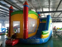 children inflatable amusement park slide trampoline playground/inflatable bouncer with obstacle course