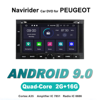 Navirider autoradio gps navigation android 9.0 car radio Player for PEUGEOT 3008 5008 multimedia bluetooth DVD aux stereo device