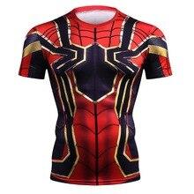 NEW 2019 Marvel Super Heroes Avenger Captain America Batman Tshirt Men Compression Base Layer Thermal Under Causal Shirt