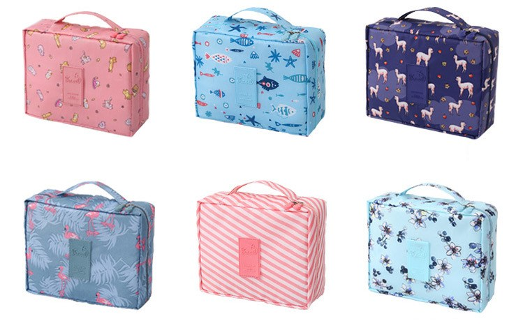HTB1CaVbVFzqK1RjSZFoq6zfcXXai - New Flower Makeup Bag Women Waterproof Portable Cosmetic Bag Travel Necessity Beauty Toiletry kit Organizer Bag