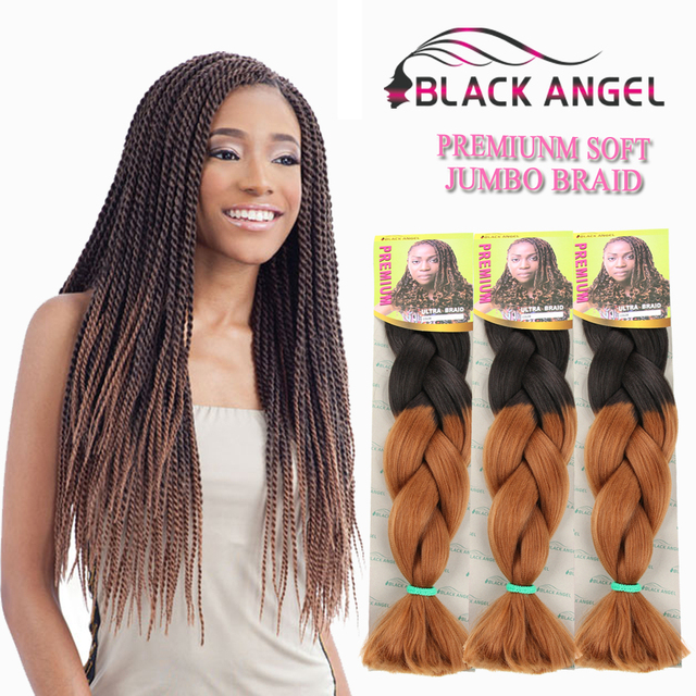 Ombre Kanekalon Braiding Hair Synthetic Braiding Hair Ombre Silky